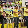 CEBU CITY. Some of the Liberal Party (LP) local bets dance before the crowd during their campaign in San Roque, Talisay City. (JAC)