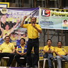 CEBU CITY. Johnny delos Reyes speaks before the local LP campaign at San Roque, Talisay City, Cebu.