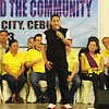 Magdalo party-list member and former Cebu City congressional candidate Ashley Acedillo represents senatorial candidate Antonio Trillanes IV. (Photo by Daryl D. Anunciado)