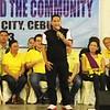 Magdalo party-list member and former Cebu City congressional candidate Ashley Acedillo represents senatorial candidate Antonio Trillanes IV. (Photo by Daryl D. Anunciado)