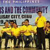 Senatorial candidate Koko Pimentel during the Liberal Party rally in Talisay City on Feb. 19, 2013 (Photo by Daryl D. Anunciado)