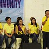 Cebu vice gubernatorial candidate Agnes Magpale talks during the Liberal Party rally in Talisay City on Feb. 19, 2013 (Photo by Daryl D. Anunciado)