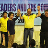 Cebu City Councilor Margot Osmena, President Benigno Aquino III, and Rep. Tomas Osmena -- Liberal Party rally in Talisay City on Feb. 19, 2013 (Photo by Daryl D. Anunciado)