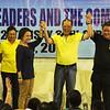 Cebu City Councilor Margot Osmena, President Benigno Aquino III, and Rep. Tomas Osmena -- Liberal Party rally in Talisay City on Feb. 19, 2013 (Photo by Daryl D. Anunciado)