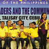 Former Akbayan representative Risa Hontiveros-Baraquiel urges the people to vote for her for senator during the Liberal Party rally in Talisay City on Feb. 19, 2013 (Photo by Daryl D. Anunciado)