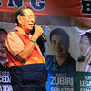 "MANONG JOHNNY. One of the ""Three Kings of UNA"", Senate President Juan Ponce Enrile asks the Cebuano people to vote for the whole United Nationalist Alliance (UNA) slate during the party's proclamation rally held at the Plaza Independencia, Cebu City on Tuesday, February 12, 2013. (Photo by Daryl D. Anunciado of Sunnex)"