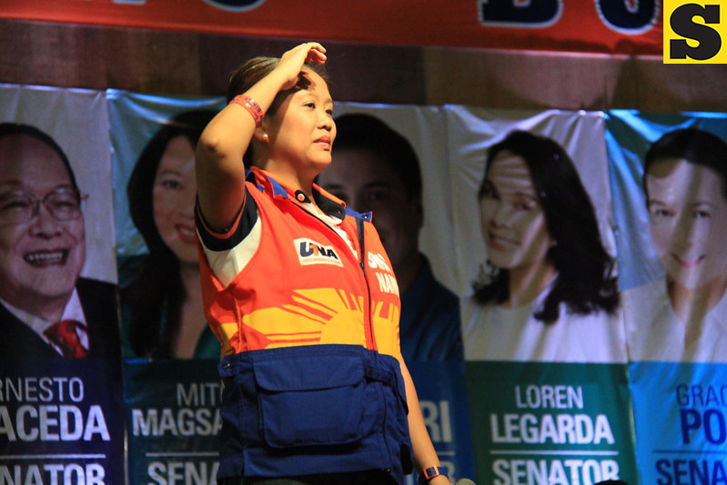 UNA proclamation rally. Senatorial candidate Nancy Binay. (Photo by Daryl D. Anunciado of Sunnex)