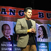 Actor/TV host Raymond Guttierez campaigns for her mom, Annabelle Rama, during the proclamation rally of the United Nationalist Alliance (UNA) held at the Plaza Independencia, Cebu City on Tuesday, February 12, 2013. Annabelle seeks for a congressional seat in the north district of Cebu City. (Photo by Daryl D. Anunciado of Sunnex)