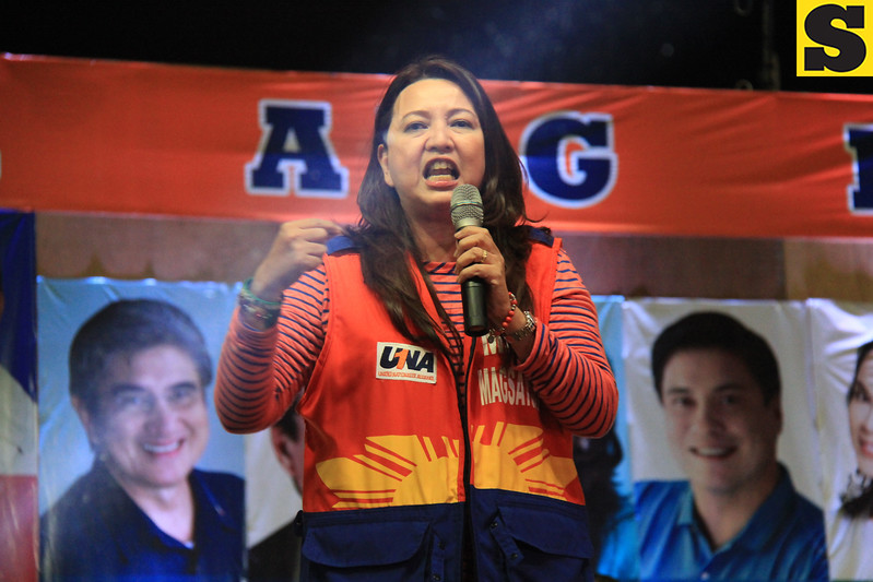 UNA proclamation rally. Senatorial candidate Mitos Magsaysay. (Photo by Daryl D. Anunciado of Sunnex)