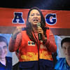 UNA proclamation rally. Senatorial candidate Mitos Magsaysay. (Photo by Daryl D. Anunciado of Sunnex)