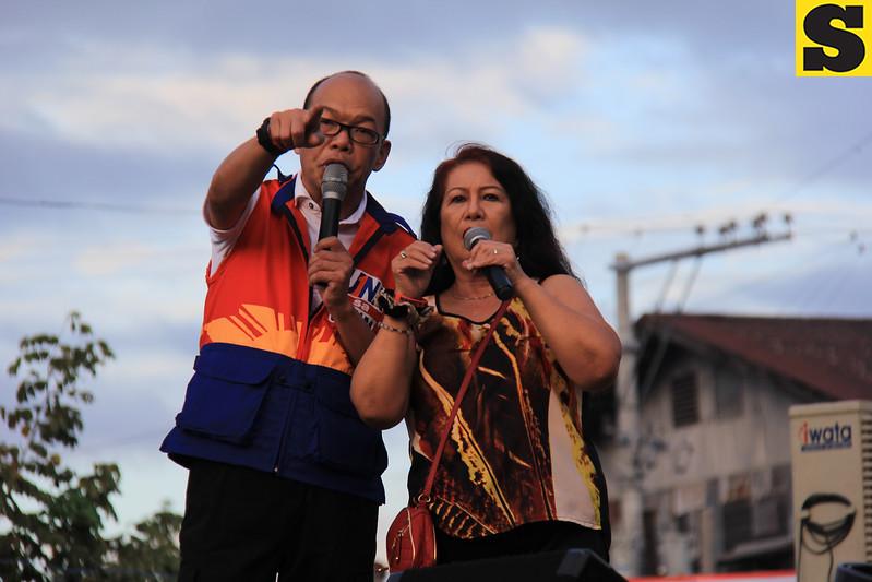 UNA proclamation rally. Erwin Maceda and Tiya Pusit. (Photo by Daryl D. Anunciado of Sunnex)