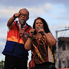 UNA proclamation rally. Erwin Maceda and Tiya Pusit. (Photo by Daryl D. Anunciado of Sunnex)