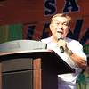 UNA proclamation rally. Antonio Legarda speaks in behalf of his daughter, senatorial candidate Loren Legarda. (Photo by Daryl D. Anunciado of Sunnex)
