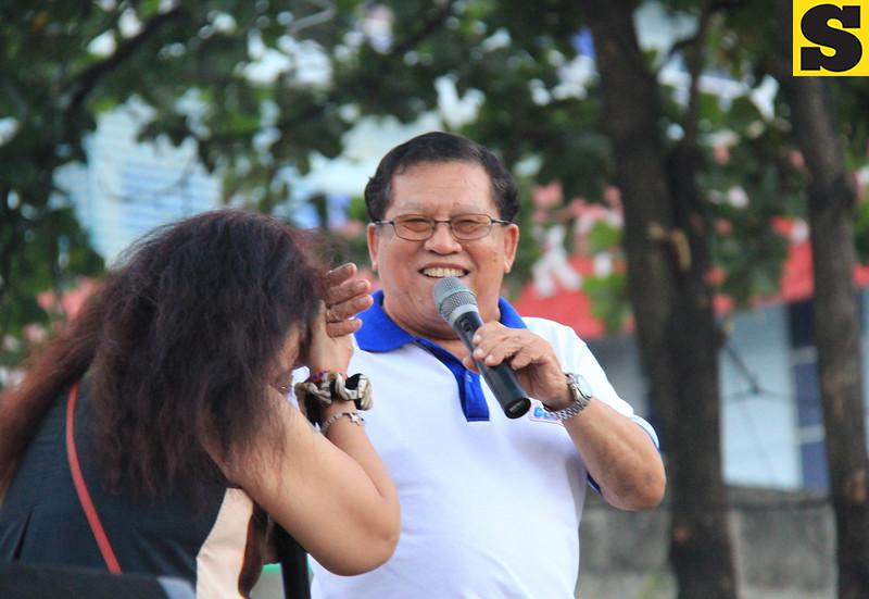 UNA proclamation rally. Comedienne Tiya Pusit and radio personality, Cebu City Councilor Juliann Daan. (Photo by Daryl D. Anunciado of Sunnex)