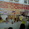 BATANGAS. Senatorial candidates of administration-backed Team PNoy hold a press conference at the Provincial Capitol of Batangas, on Wednesday. (Kathrina Alvarez)