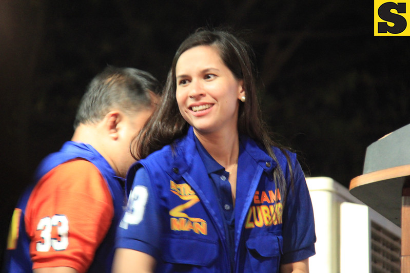 UNA proclamation rally. Audrey Zubiri, wife of senatorial bet Migz Zubiri. (Photo by Daryl D. Anunciado of Sunnex)