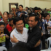 Mike Rama congratulates runningmate Edgar Labella