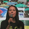 CEBU. Actress/host Ruffa Guitterez campaigns for her mom Annabelle Rama who  seeks for a congressional seat in the north district of Cebu City . (Andres Awing photo)