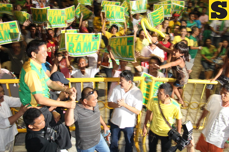 Team Rama rally held at Plaza Independencia in Cebu City on April 6, 2013. (Daryl D. Anunciado photo)