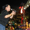 Singer Dulce entertains the crowd during the Team Rama rally held at Plaza Independencia in Cebu City on April 6, 2013. (Daryl D. Anunciado photo)