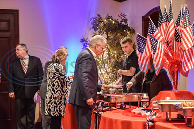 Guests get served dinner at the 2020 Republican GOP Dinner in Jacksonville on Saturday, February 15. Lieutenant Colonel Allen West served as guest speaker.