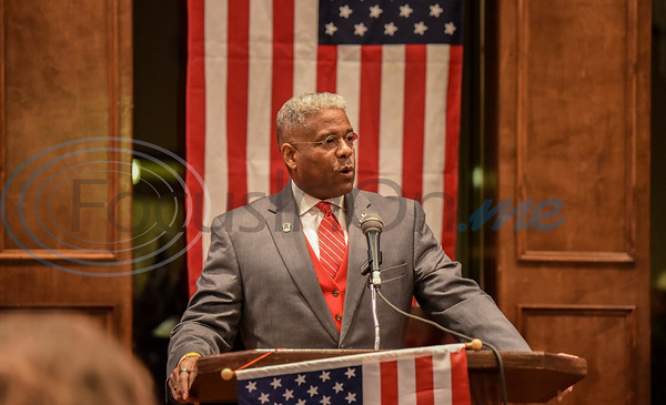 2020 Republican Party Dinner guest speaker Lieutenant Colonel Allen West addresses the crowd on Saturday, February 15. The event was held at The Legacy in Jacksonville and also included live music and silent auction.