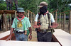 "Zapatista ""Subcomandante Marcos,"" right, appears in the rebel-controlled area of the southeastern Mexican state in 1994. (Australfoto/Douglas Engle)"