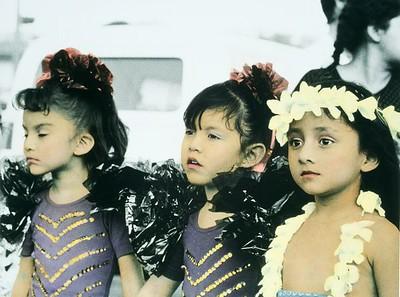 Three girls in Chiapa de Corso parade