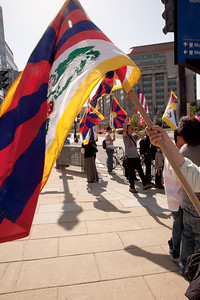Anti-Chinese Protest for Human RIghts in Tibet at the Nuclear Secutiry Summit. Oranized by Regional Tibetan Youth Congress of NY & NJ.