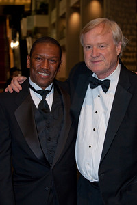 Rick Jefferson and Chris Matthews both of MSNBC at Radio and Television Correspondents Dinner
