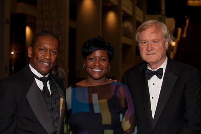 Rick Jefferson & wife and Chris Matthews both of MSNBC at Radio and Television Correspondents Dinner