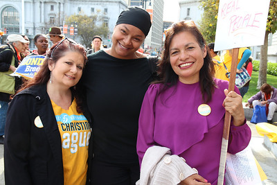 Left to right, Tami Bryant, Neva Walker, Rosario Cervantes.  Neva Walker is the Executive Director of Coleman Advocates.