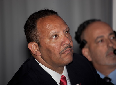 Marc Morial listens to fiery oration by Amos Brown. Marc Haydel Morial is an American political and civic leader and the current president of the National Urban League. Morial served as mayor of New Orleans, Louisiana from 1994 to 2002.