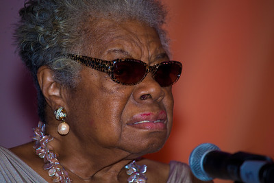 "Dr. Maya Angelou, poetry reading, ""Abundant Hope"""