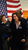 Victoria Reggie Kennedy mingles with the crowd after the rally.