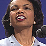 RNC2000080162 - PHILADELPHIA. PA:  Condoleeza Rice, Foreign Policy adviser for George W . Bush addresses the Republican National Convention in Philadelphia, August 1.   cs/Ezio Petersen UPI