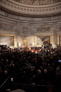 Space legends John Glenn, Neil Armstrong, Buzz Aldrin and Michael Collins were awarded Congressional Gold Medals, the nation's highest civilian honor, on Wednesday, November 16, 2011. The ceremony was held in the US Capitol Rotunda in Washington DC. (Photo by Jeff Malet)