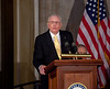 Congressional Gold Medal Ceremony in Honor of Astronauts : Space legends John Glenn, Neil Armstrong, Buzz Aldrin and Michael Collins were awarded Congressional Gold Medals, the nation's highest civilian honor, on Wednesday, November 16, 2011. The ceremony was held in the US Capitol Rotunda. Armstrong was the first man to walk on the moon. Aldrin, pilot of the lunar module, was the second to step foot on the moon. Collins piloted Apollo 11's command module. Glenn was the first American to orbit the Earth.
