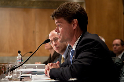 Assistant Secretary for Homeland Security, John Morton testifies at the Senate Committee on Homeland Security and Governmental Affairs hearings to examine the lessons and implications of the Christmas Day attack, focusing on securing the visa process. April 21, 2010.  (Photo by Jeff Malet)