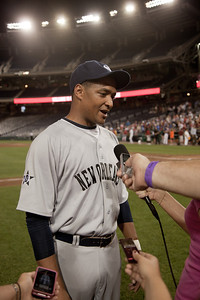 Winning pitcher Cedric Richmond (D-LA) after the game