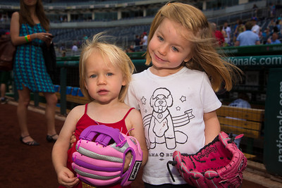 Anabel Buczek and Amelia Buczek (4), daughters of Democratic Volunteer Coach