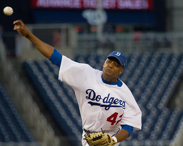 Cedric Richmond (D-LA) pitched a complete game shutout 3 hitter He wore a Jackie Robinson Dodger uniform