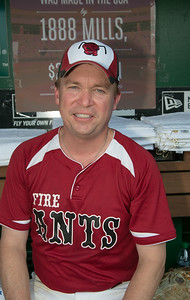 Mick Mulvaney (R-SC-05) wearing the uniform of the University of South Carolina Sumter Fire Ants