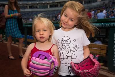 Anabel Buczek and Amelia Buczek (4), daughters of Democratic Volunteer Coach