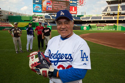 Representative Joe Baca (D - CA) was the winning pitcher and threw a complete game for the Democrats.