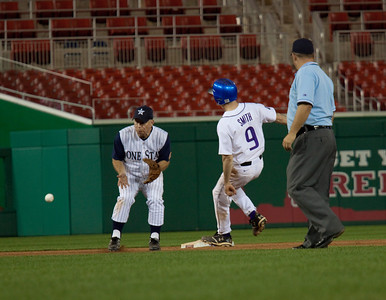 Rep. Kevin Brady (R-TX) receives a late throw as Rep. Adam Smith ( D-WA) steals second.