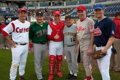 Members of the Pennsylvania delegation meet before the game. Rep. Chris Carney (D-PA) - Bill Shuster (R-PA) - Todd Platts (R-PA) - Tim Holden (D-PA) - Mike Doyle (D-PA) - Patric Murphy (D-PA)