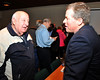 South Whitehall Township resident and business owner Bob Wieland chats with Congressman Dent after Tuesday's meeting.