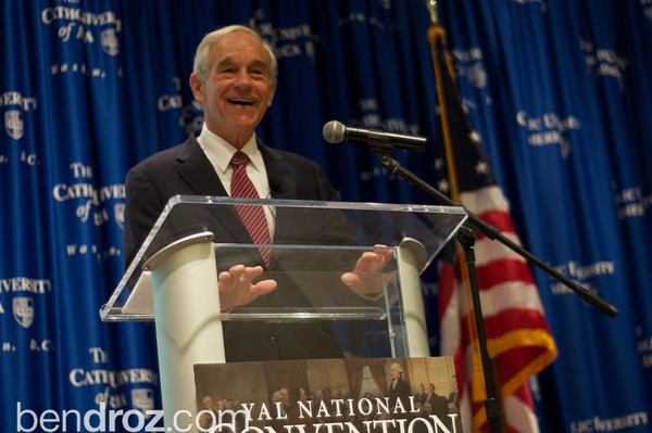 Congressman Ron Paul is honored at the Young Americans for Liberty (YAL) Annual Convention.  Over his long and successful career, Paul has been an outspoken voice for liberty, building a political movement throughout the US and in Congress.  This day was not only moving but historic- the House of Represenatives voted on and passed his 'Audit the Federal Reserve' bill.