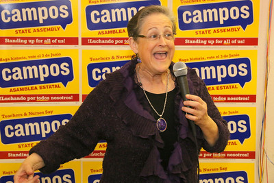 Hene Kelly endorsing David Campos.